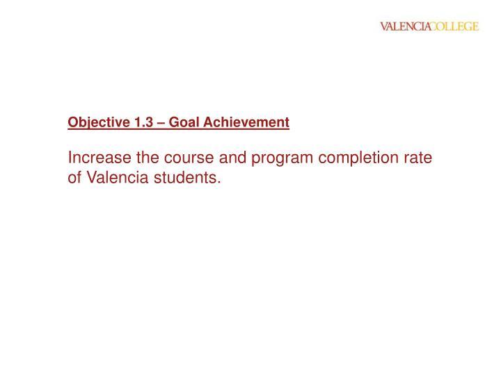 Objective 1.3 – Goal