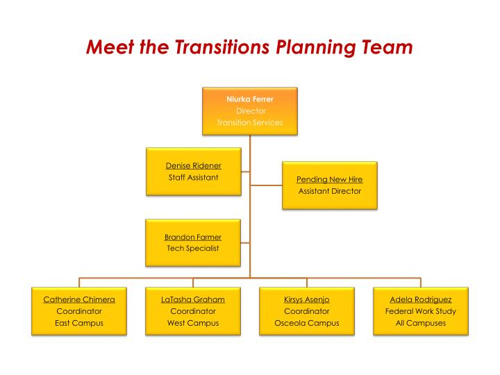 Meet the Transitions Planning Team