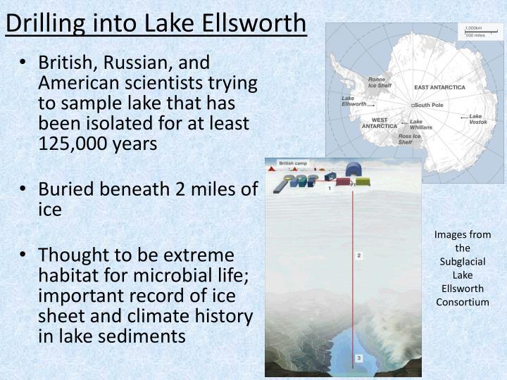 Drilling into Lake Ellsworth