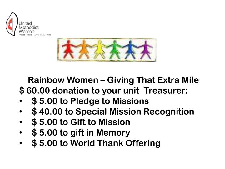 Rainbow Women – Giving That Extra Mile