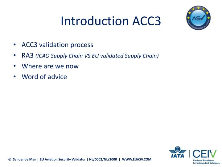 Introduction ACC3