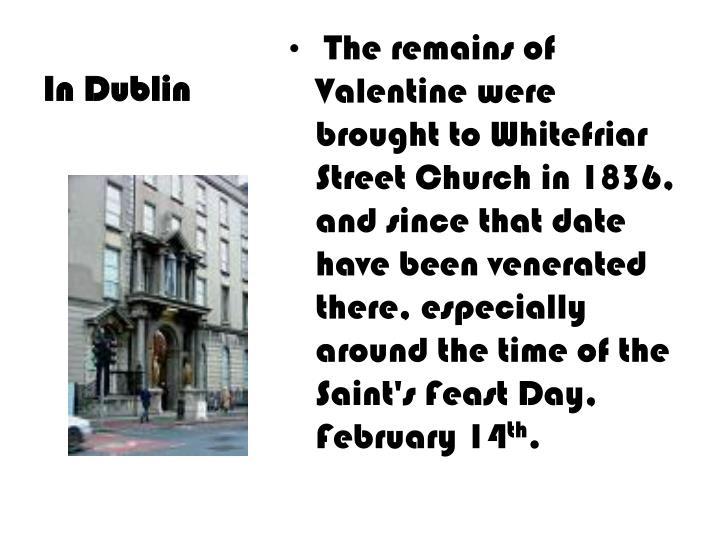 In Dublin