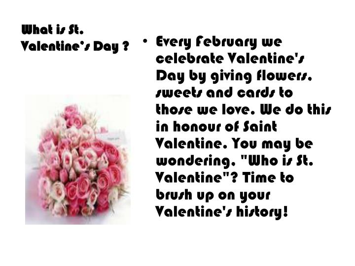 What is st valentine s day