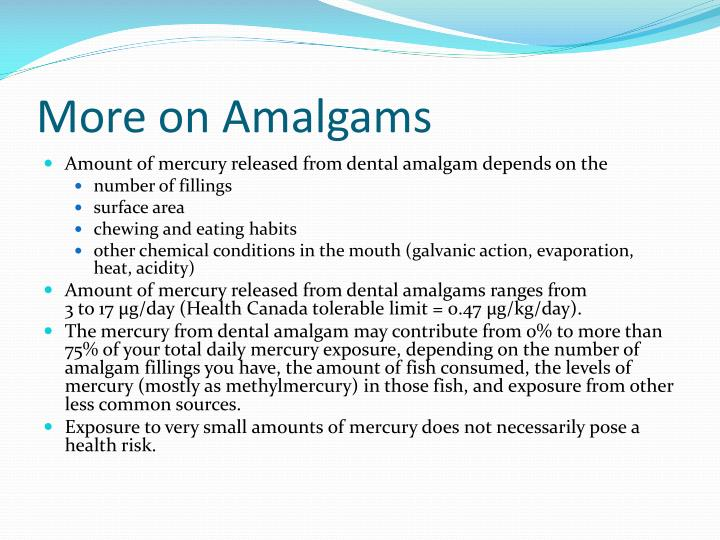More on Amalgams