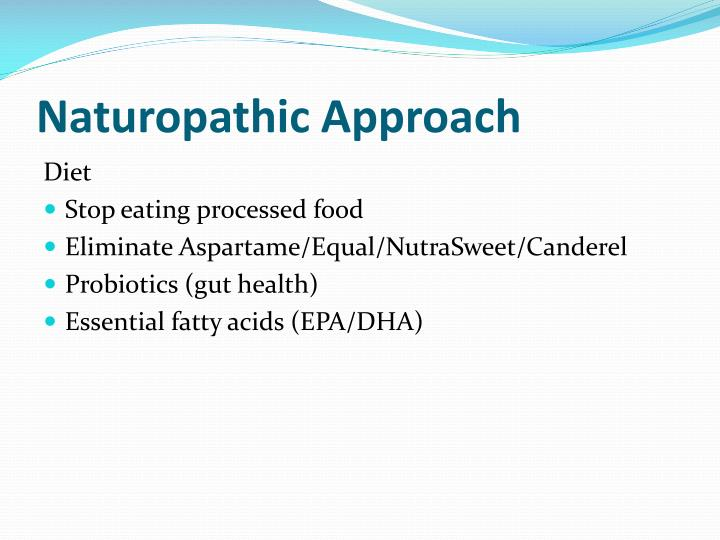 Naturopathic Approach