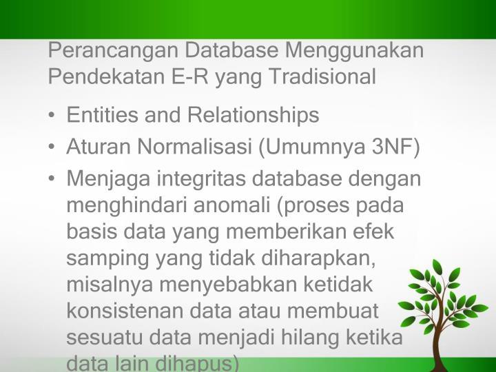 Perancangan Database Menggunakan
