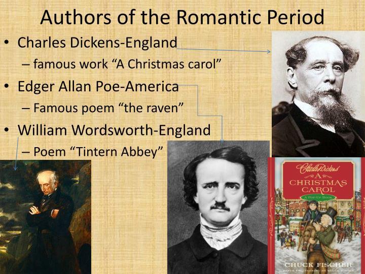 Authors of the Romantic Period