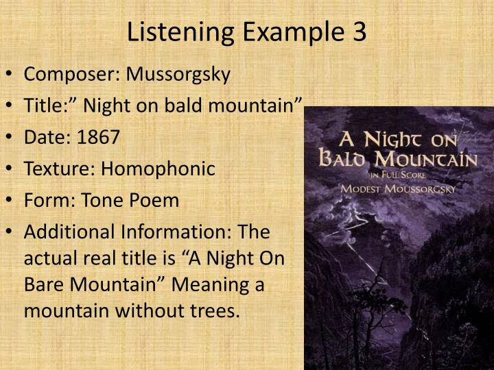 Listening Example 3