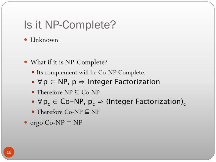 Is it NP-Complete?