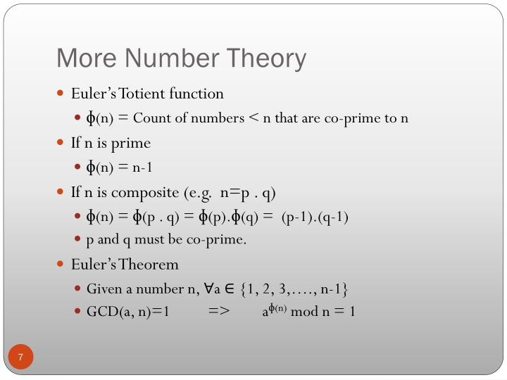 More Number Theory