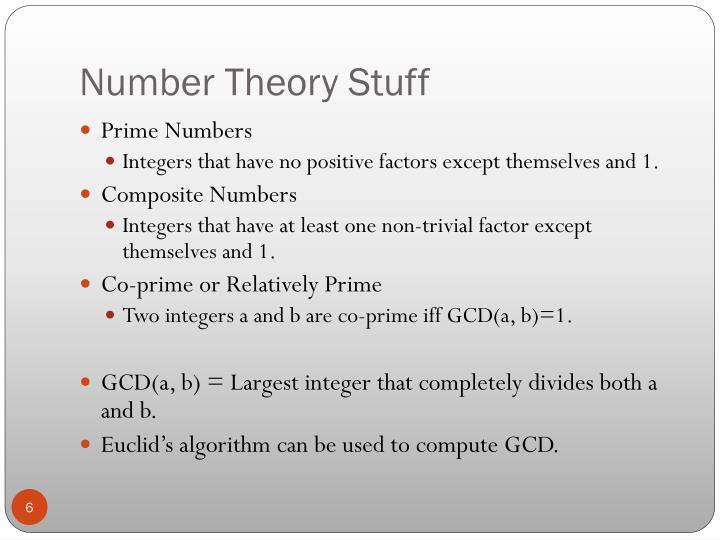 Number Theory Stuff