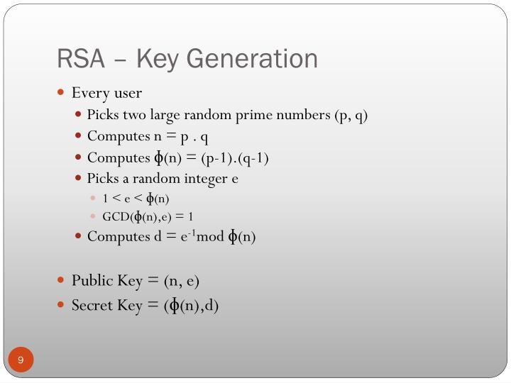 RSA – Key Generation