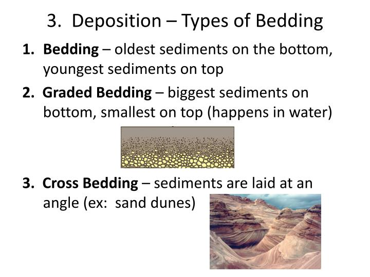 3.  Deposition – Types of Bedding