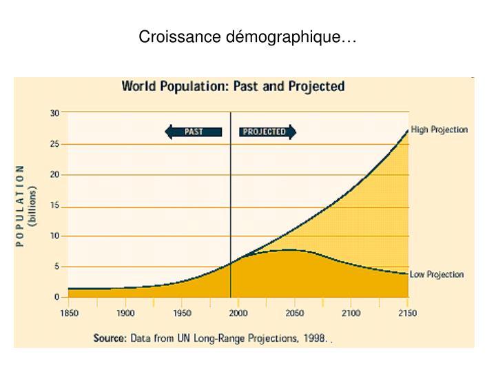 Croissance démographique…
