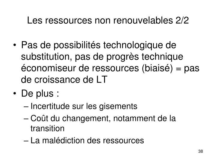 Les ressources non