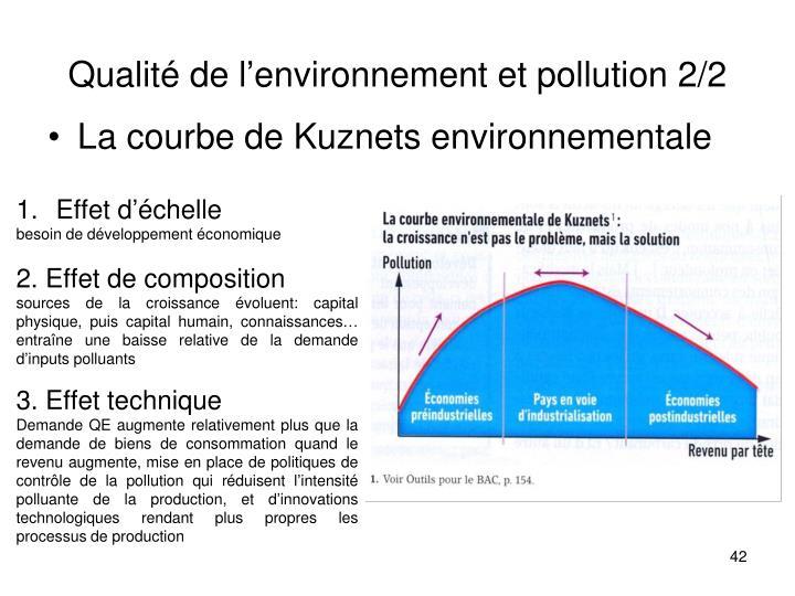 Qualité de l'environnement et pollution