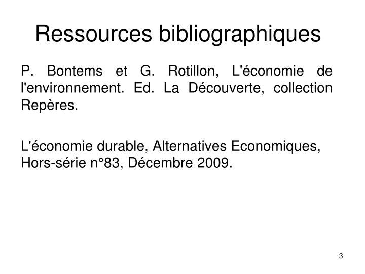 Ressources bibliographiques