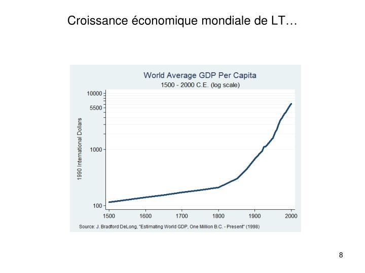 Croissance économique mondiale de LT…