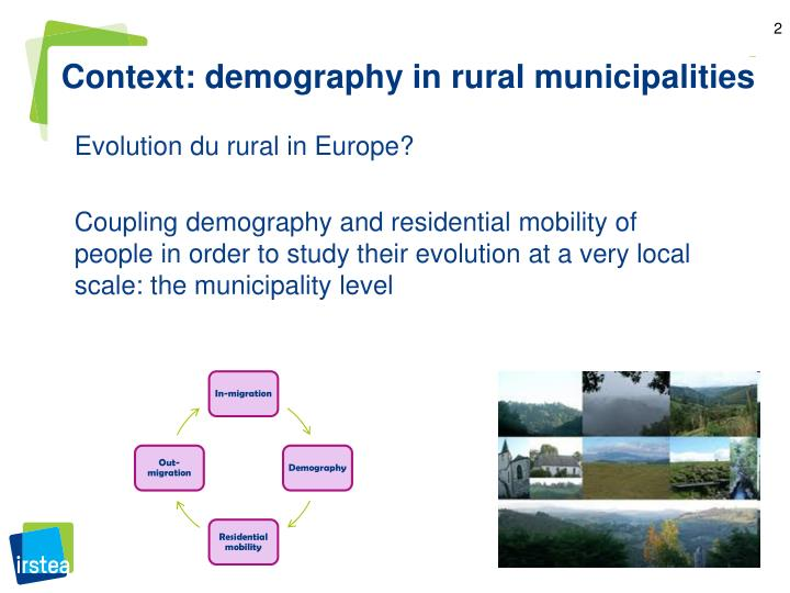 Context: demography in rural municipalities