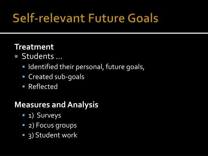 Self-relevant Future Goals