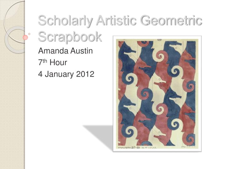 Scholarly artistic geometric scrapbook