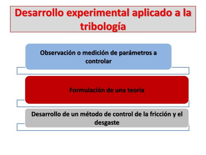 Desarrollo experimental aplicado a la tribología