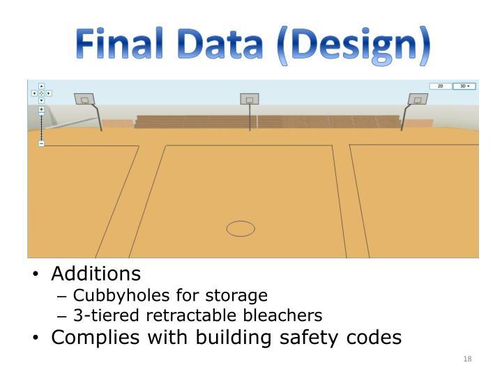 Final Data (Design)