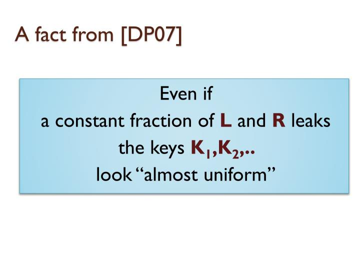 A fact from [DP07]