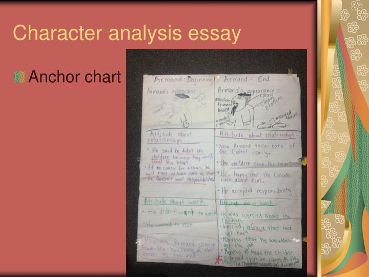 Character analysis essay