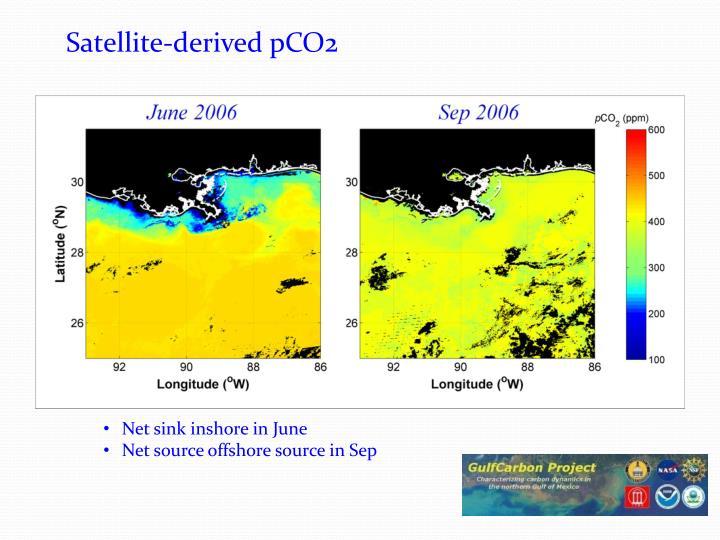 Satellite-derived pCO2