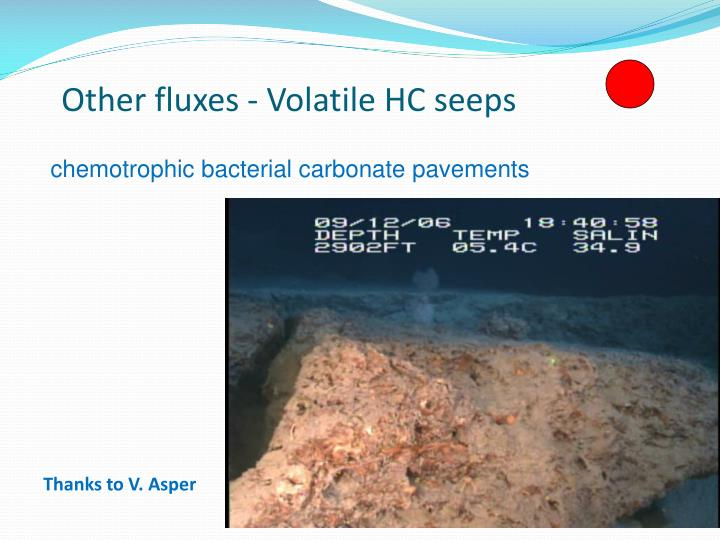 Other fluxes - Volatile HC seeps