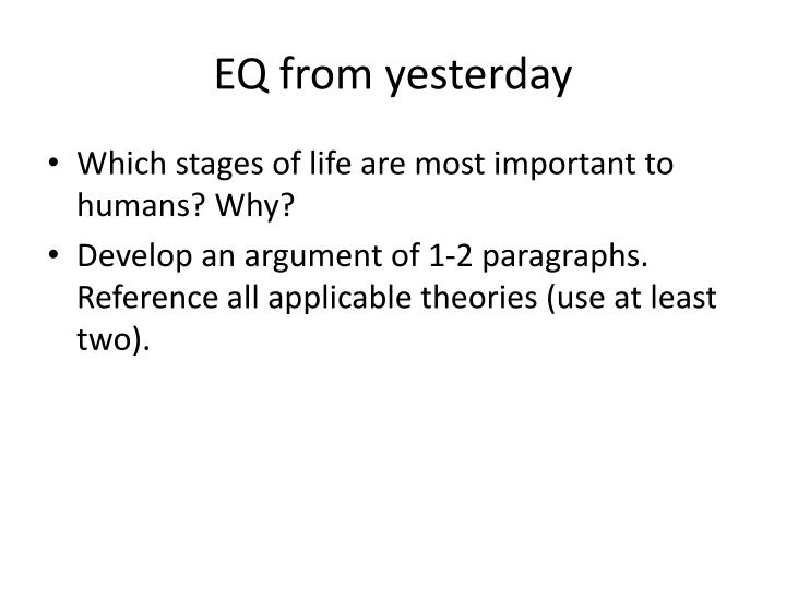 Eq from yesterday