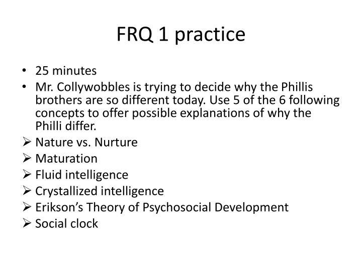 FRQ 1 practice