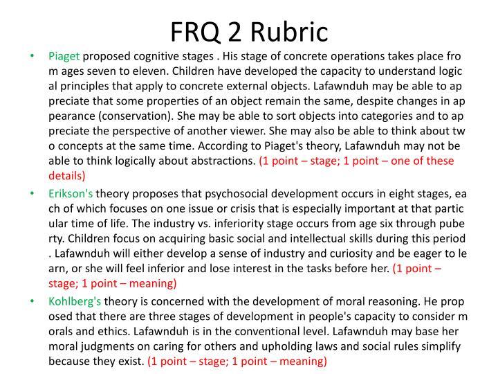 FRQ 2 Rubric