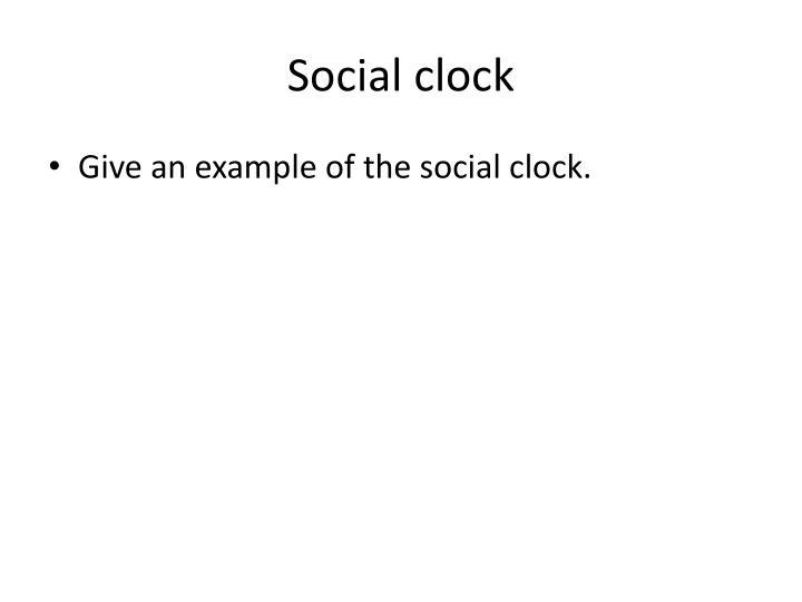 Social clock