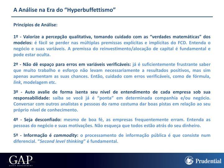 """A Análise na Era do """"Hyperbuffettismo"""""""