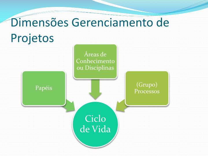 Dimensões Gerenciamento de Projetos