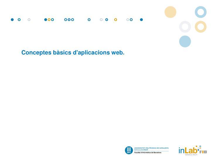Conceptes bàsics d'aplicacions web.