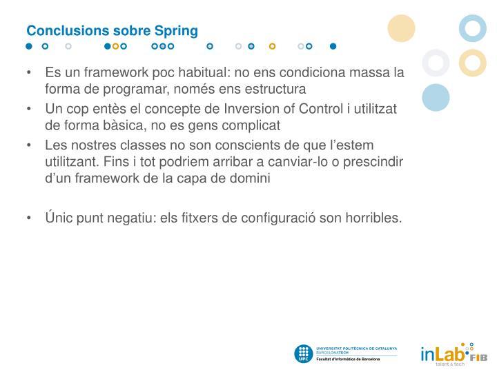 Conclusions sobre Spring