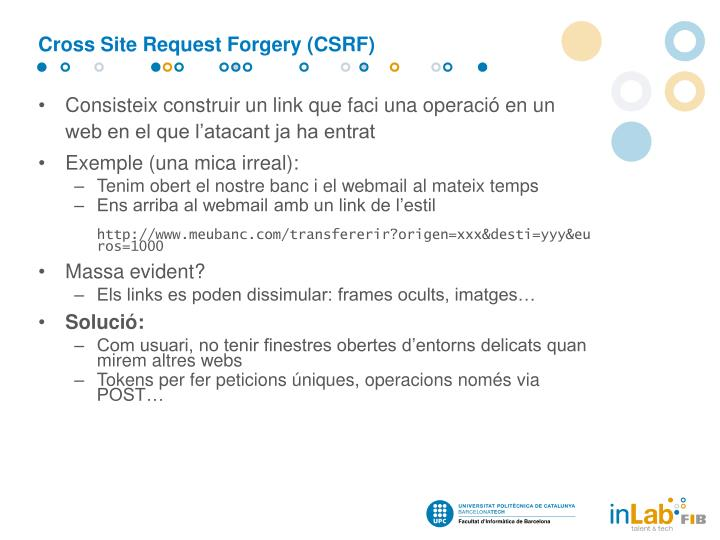 Cross Site Request Forgery (CSRF)