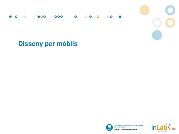 Disseny per mòbils