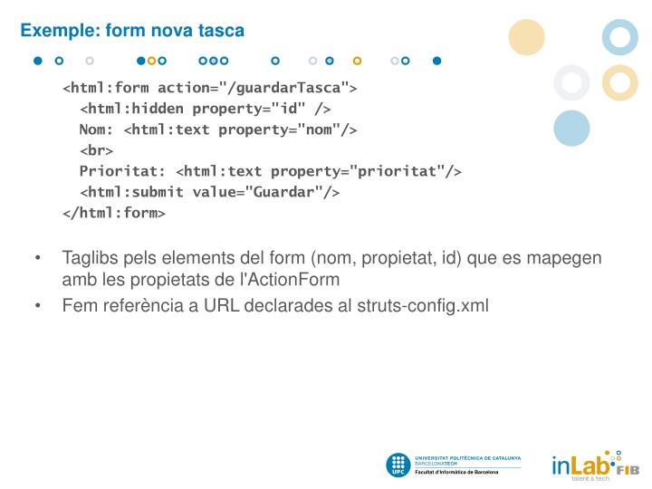 Exemple: form nova tasca