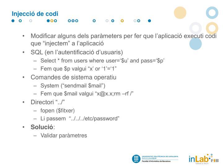 Injecció de codi