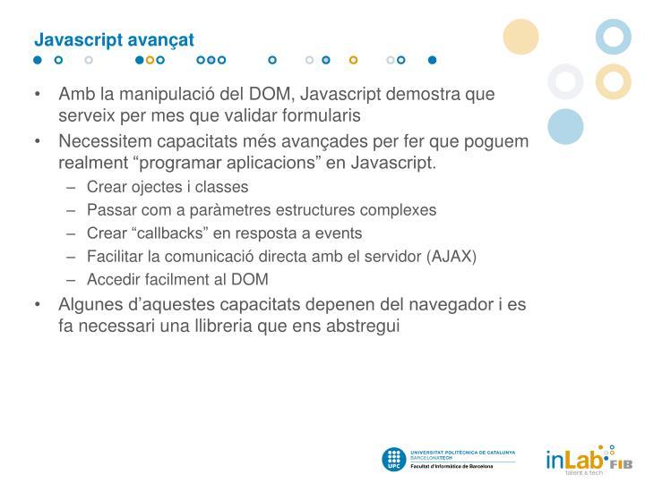 Javascript avançat