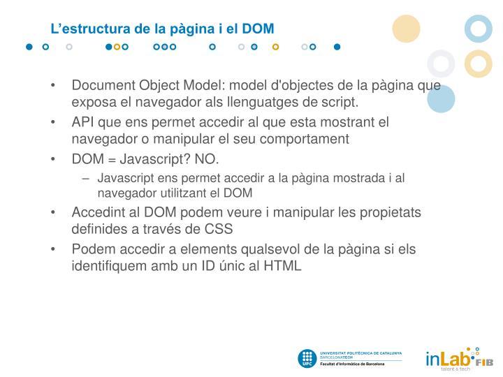 L'estructura de la pàgina i el DOM