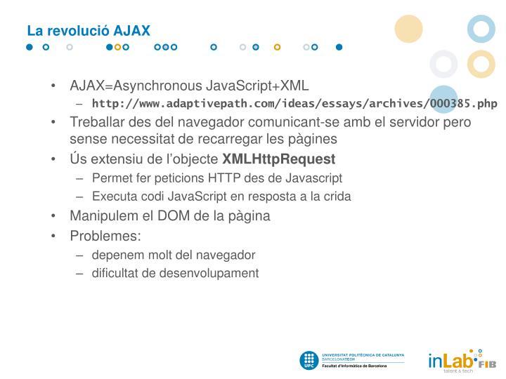 La revolució AJAX