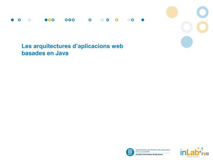 Les arquitectures d'aplicacions web