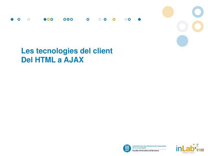 Les tecnologies del client