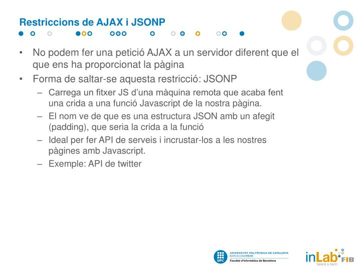Restriccions de AJAX i JSONP