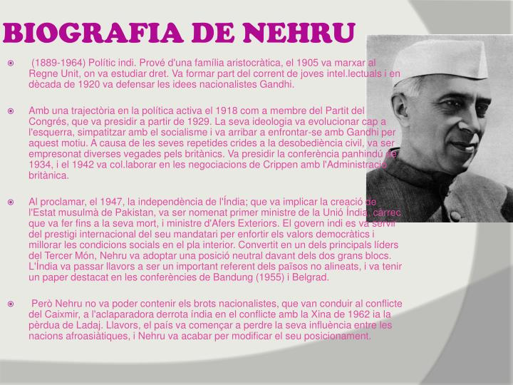 BIOGRAFIA DE NEHRU